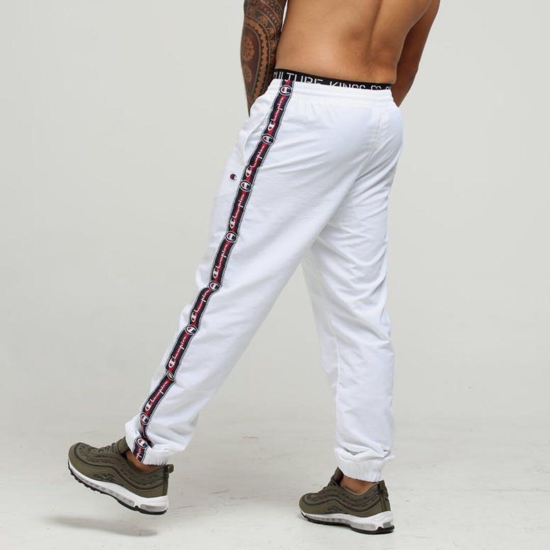 Champion Light Weight Tape Pant/Track Pant White
