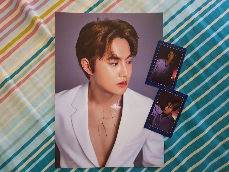 EXO Season's Greeting 2019 - Suho A4 poster & tarot cards