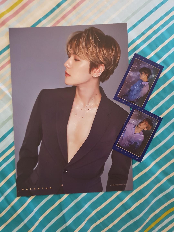 EXO Season's Greeting 2019 -Baekhyun A4 poster & tarot cards