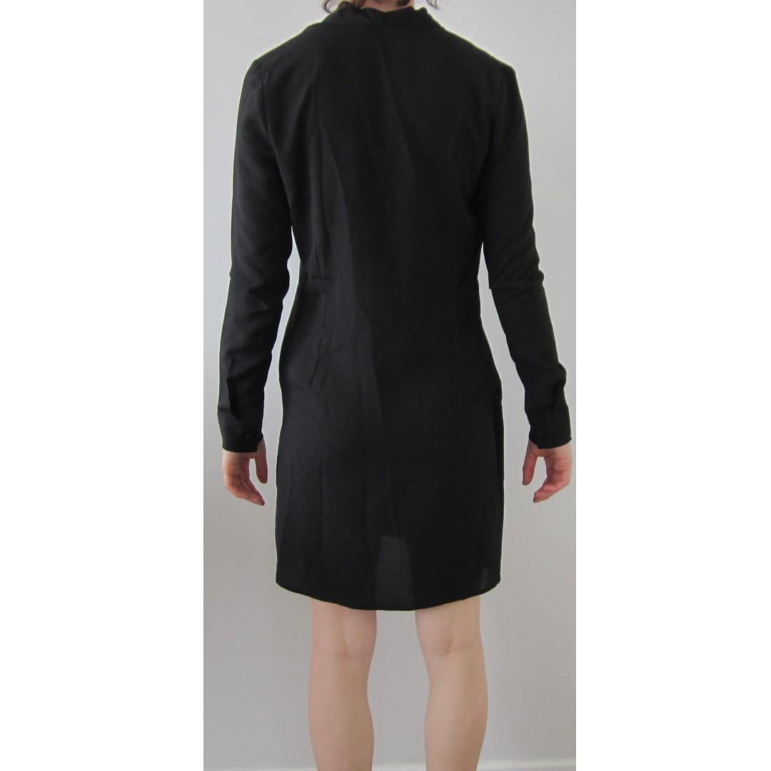 French Connection Kimono Wrap Style Black Dress BNWOT Size 6
