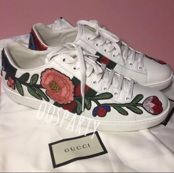 49684952e Gucci Ace Embroidered Sneaker, Luxury, Shoes on Carousell