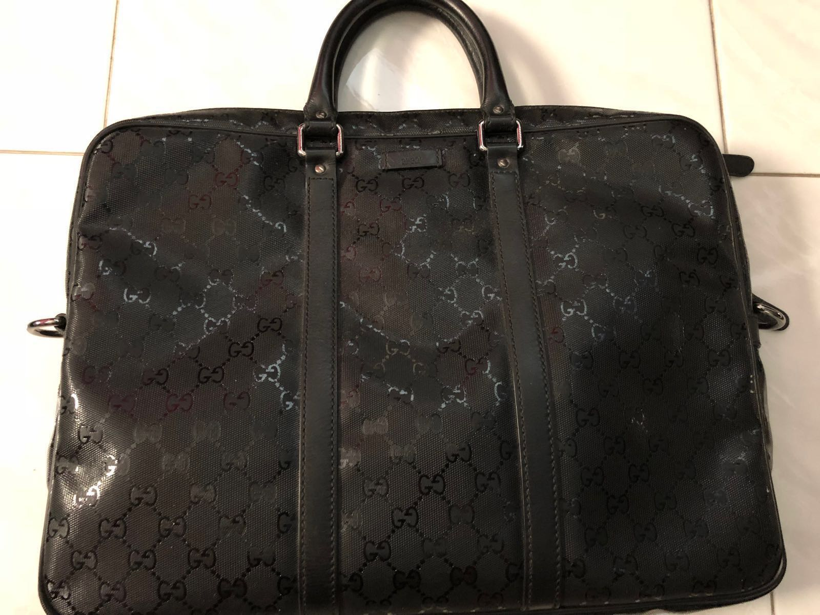 31702b200d09 Gucci Men's briefcase, Luxury, Bags & Wallets, Briefcases on Carousell