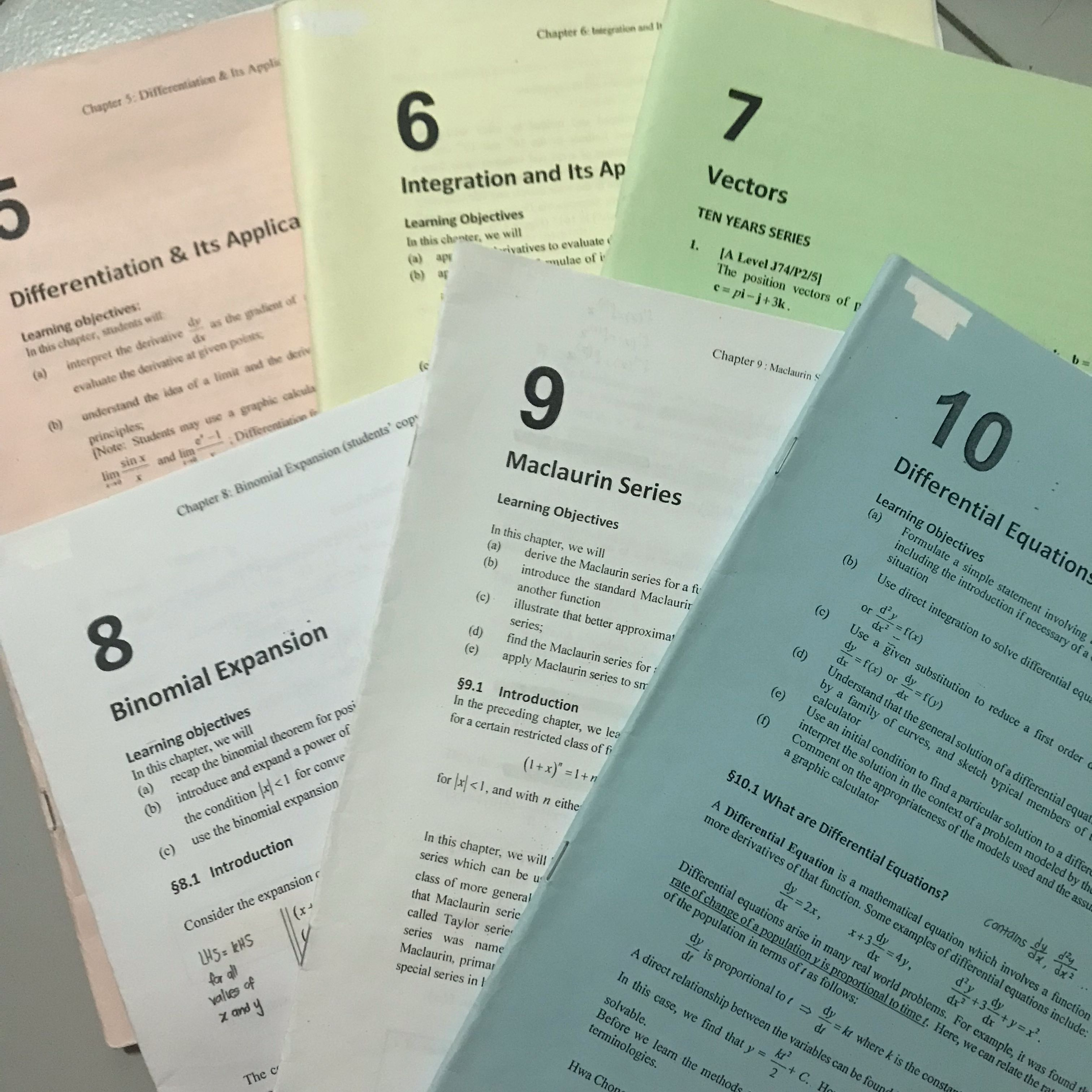 HCI MATHS NOTES, Books & Stationery, Textbooks, Tertiary on