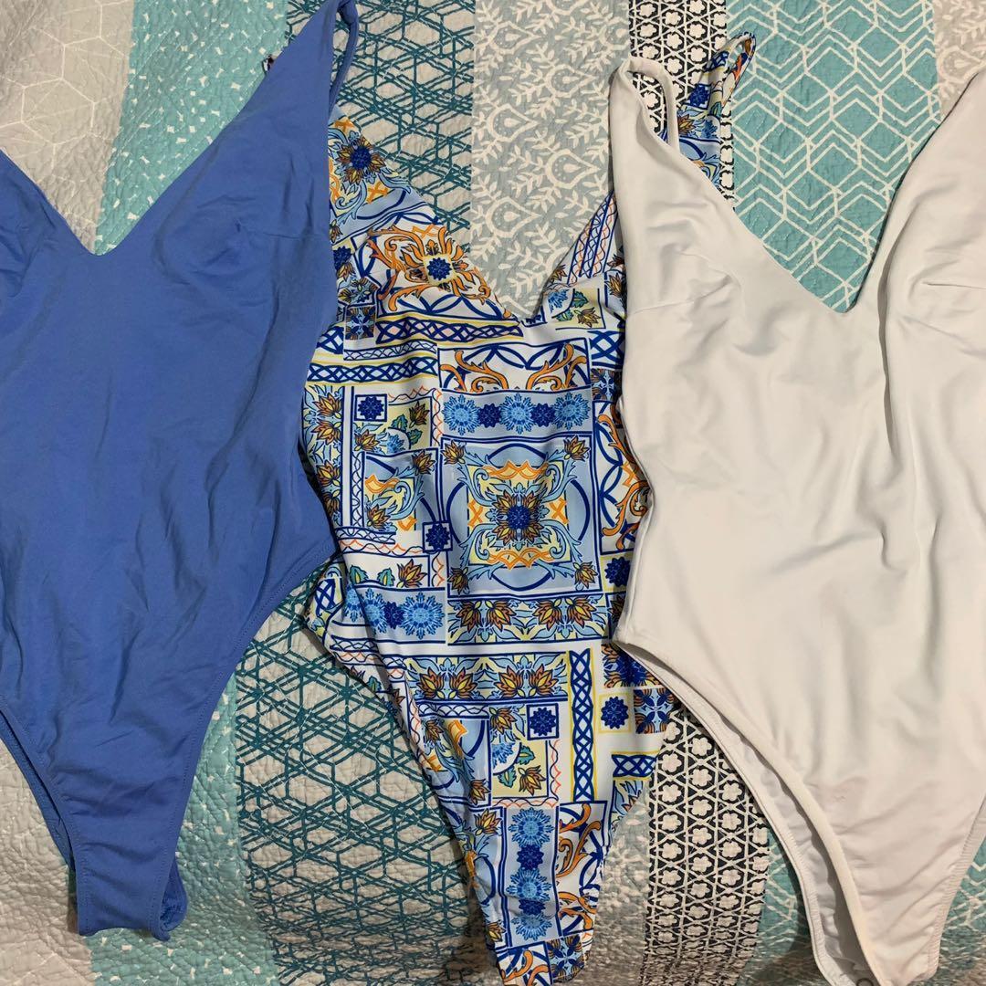 Kookai Julie bodysuit in cobalt