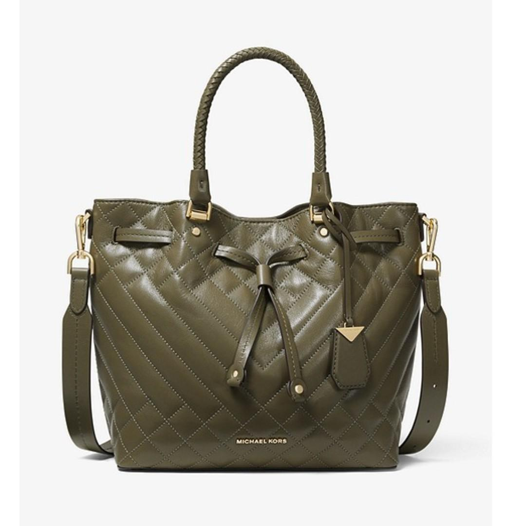 aeedc02286f Michael Kors Blakely Medium Quilted Leather Bucket Bag, Women's ...