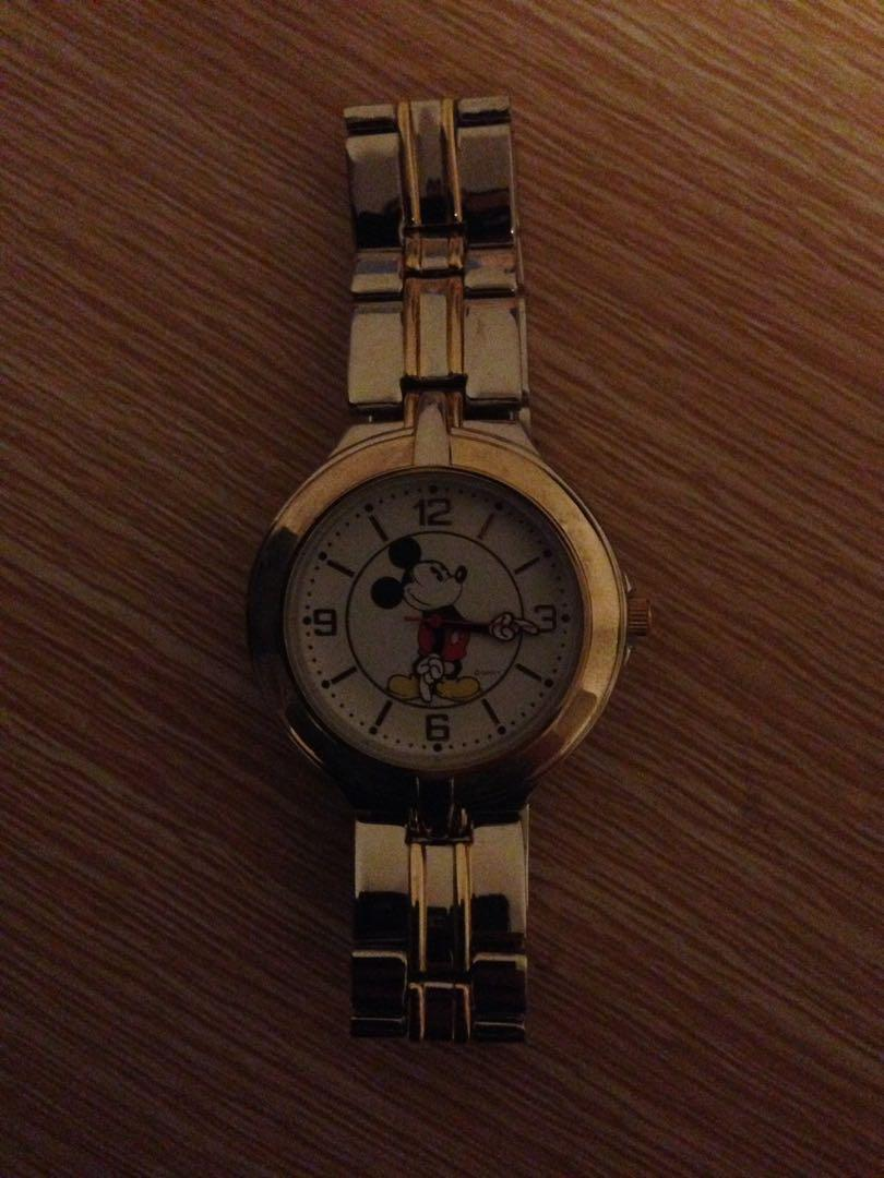 Micky mouse watch in case