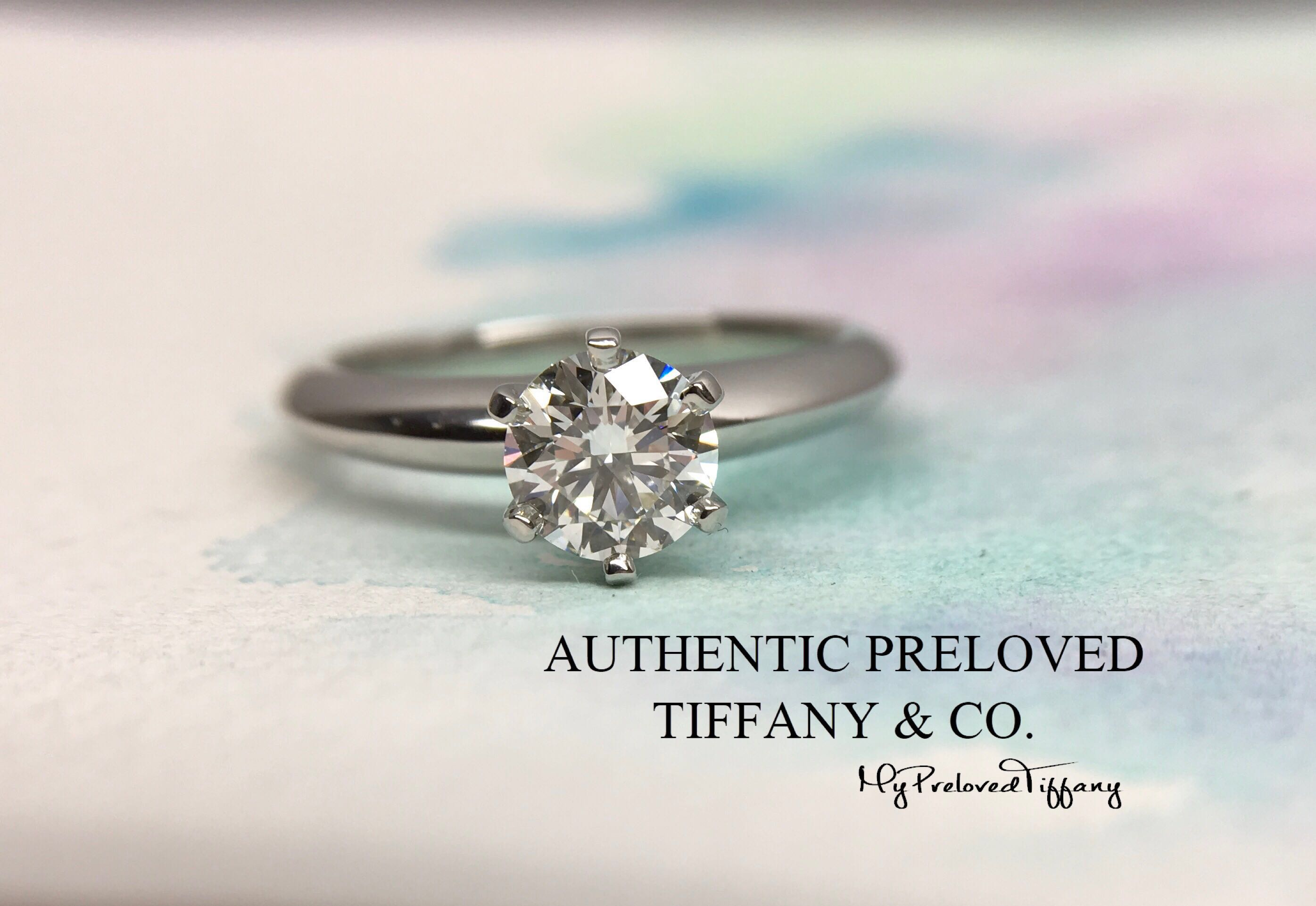 5a6221a3e Mint Tiffany & Co 0.75ct IF 3EX Solitaire Diamond Platinum Ring PT950,  Women's Fashion, Jewellery, Rings on Carousell