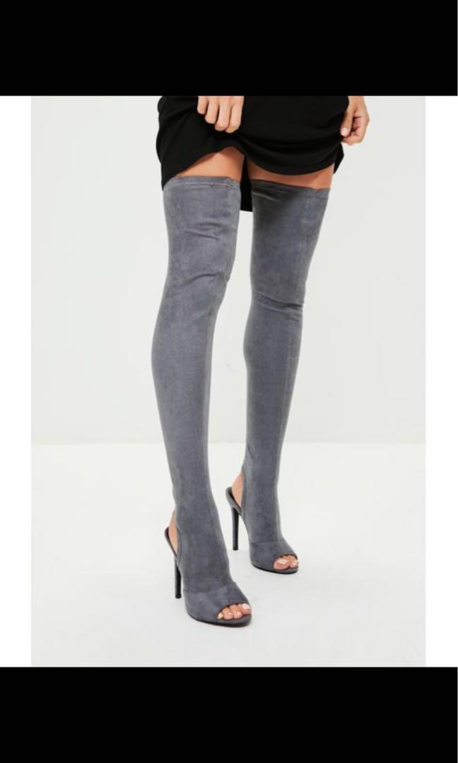 Missguided Knee High Boots | Size 5