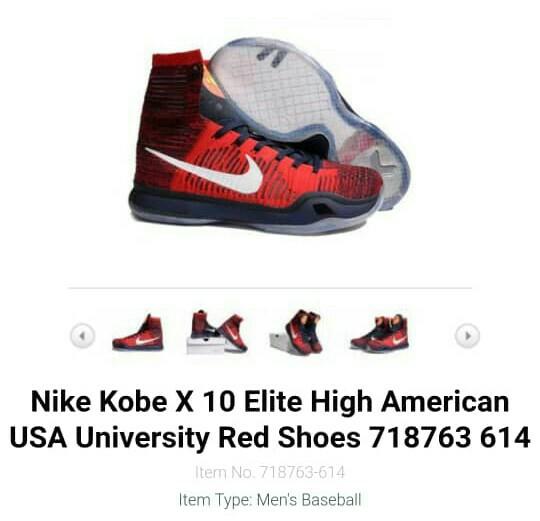 5ec0bde7c09 NIKE KOBE X 10 ELITE HIGH AMERICAN USA UNIVERSITY RED SHOES