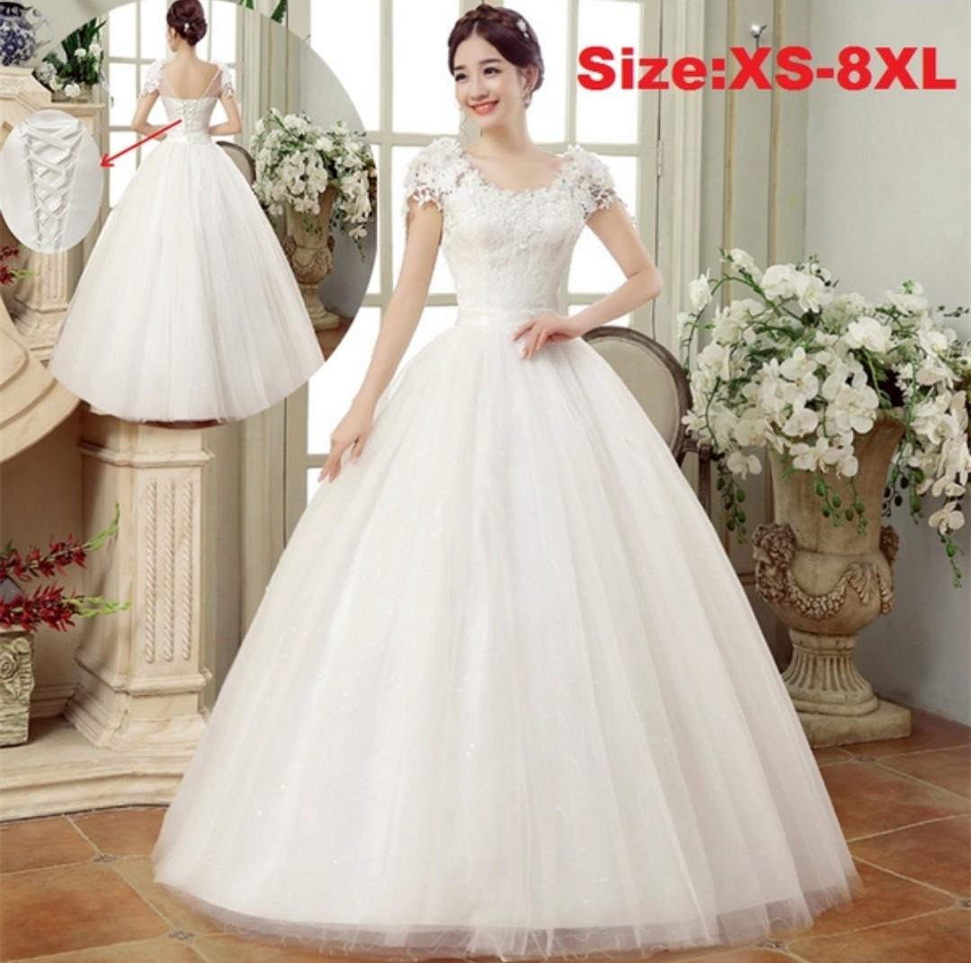 piscesbabydoll brand exclusive off-white wedding dress/gown