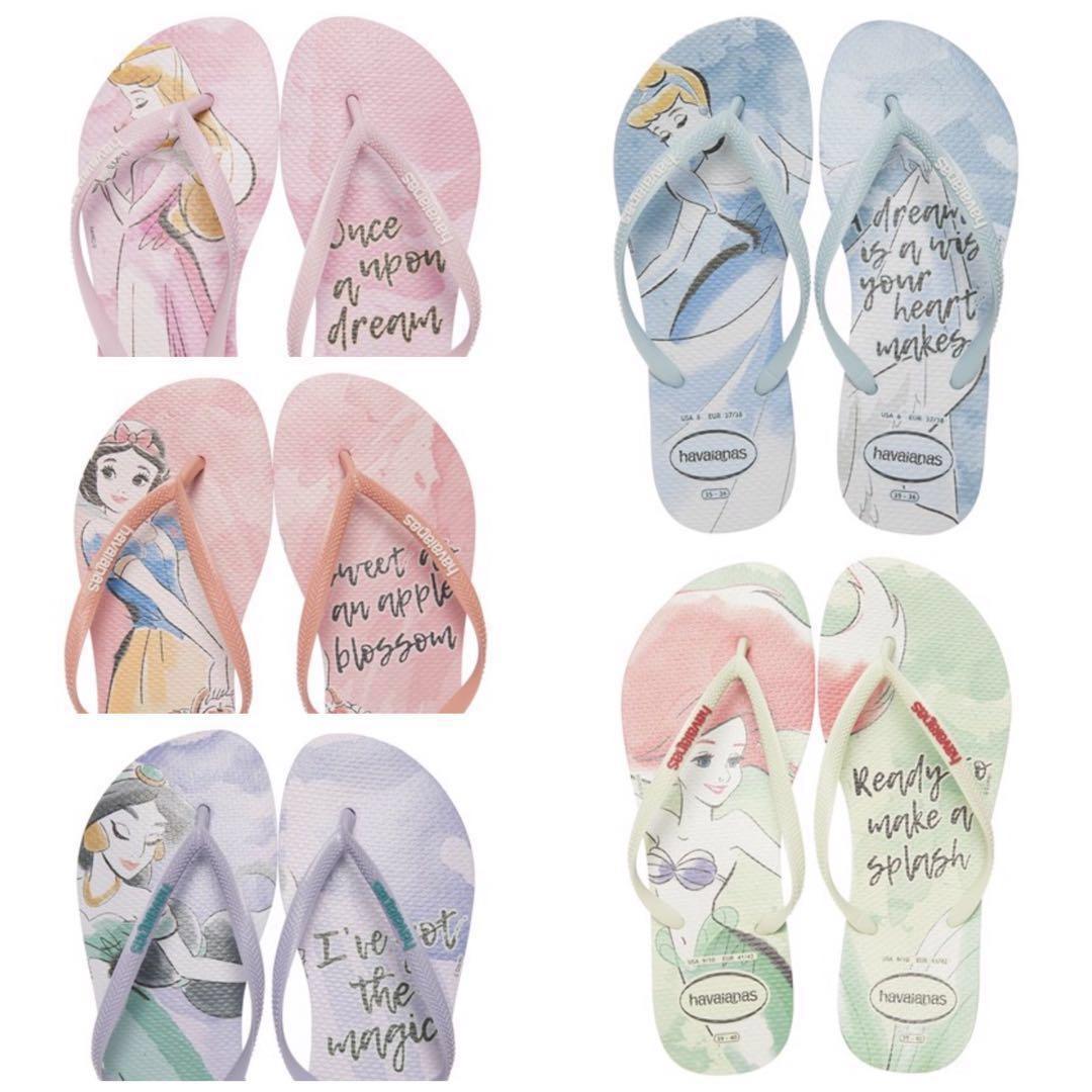 online store dirt cheap new styles PO] Havaianas Disney princess slim thongs, Women's Fashion, Shoes ...