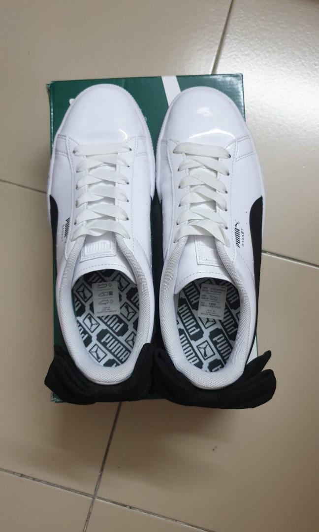 new style 35df6 38576 Puma basket bow SB -puma white and black ribbon, Women's ...