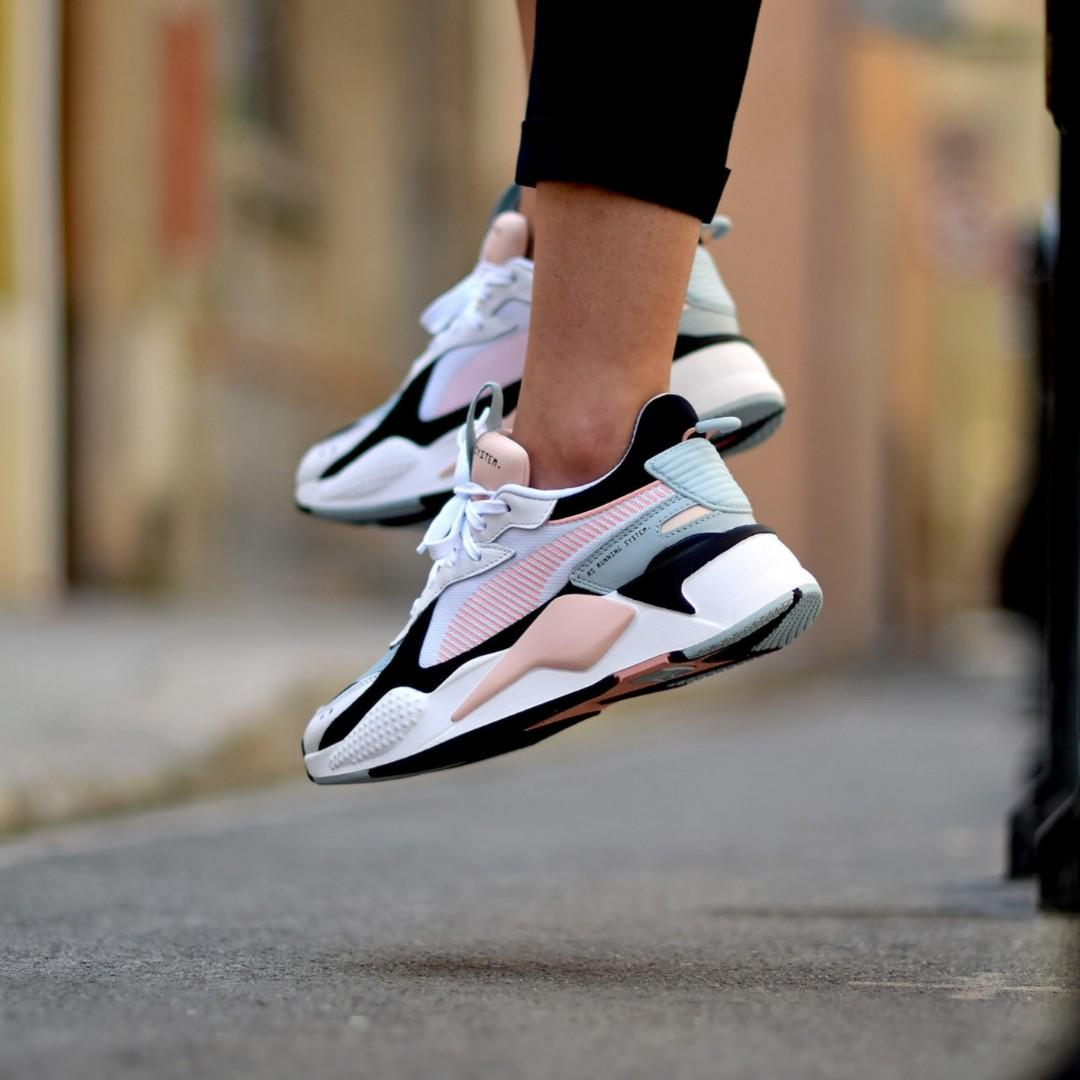 puma rsx reinvention white peach