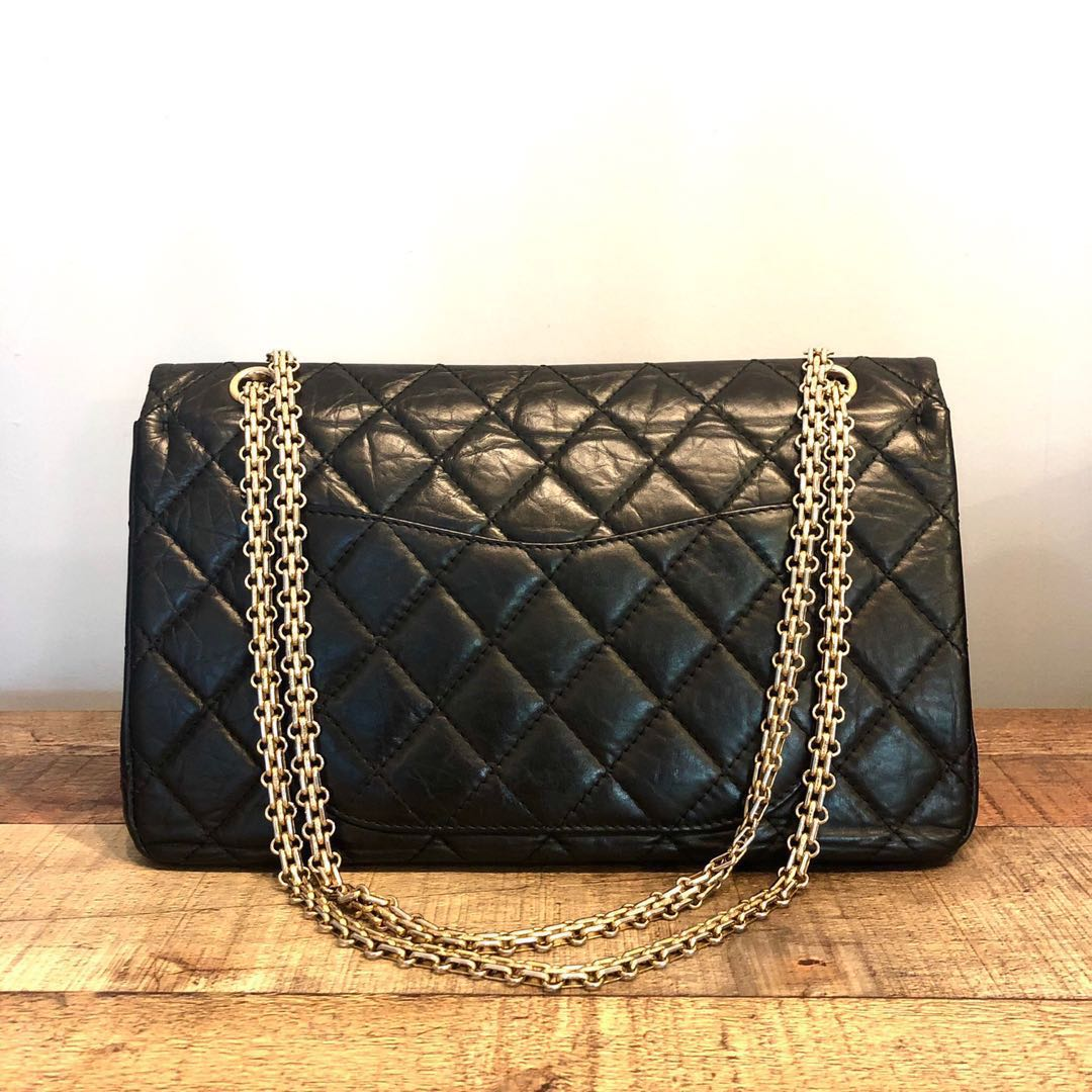 1cc22067b31ddc RESERVED Chanel Black 2.55 Reissue 227 in Aged Calf Leather Bag ...