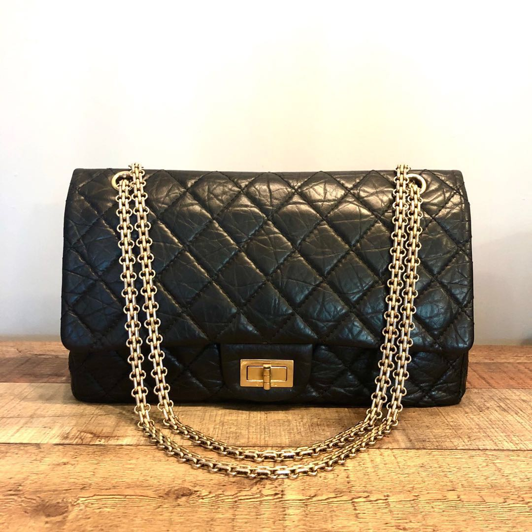 33e05a2e6678 RESERVED Chanel Black 2.55 Reissue 227 in Aged Calf Leather Bag ...