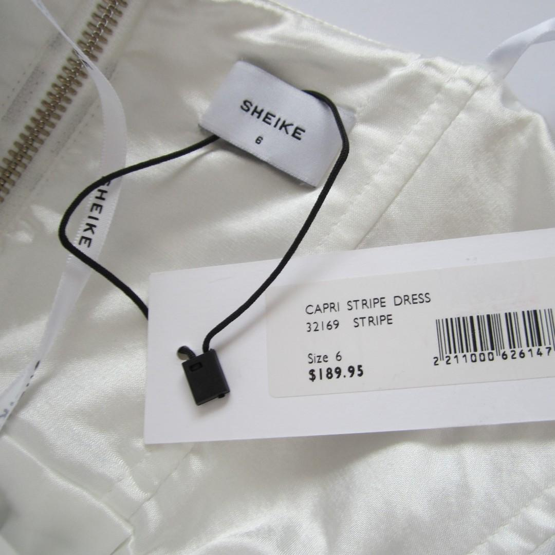 Sheike Capri Stripe Midi Bustier Dress Size 6 BNWT RRP $189.95