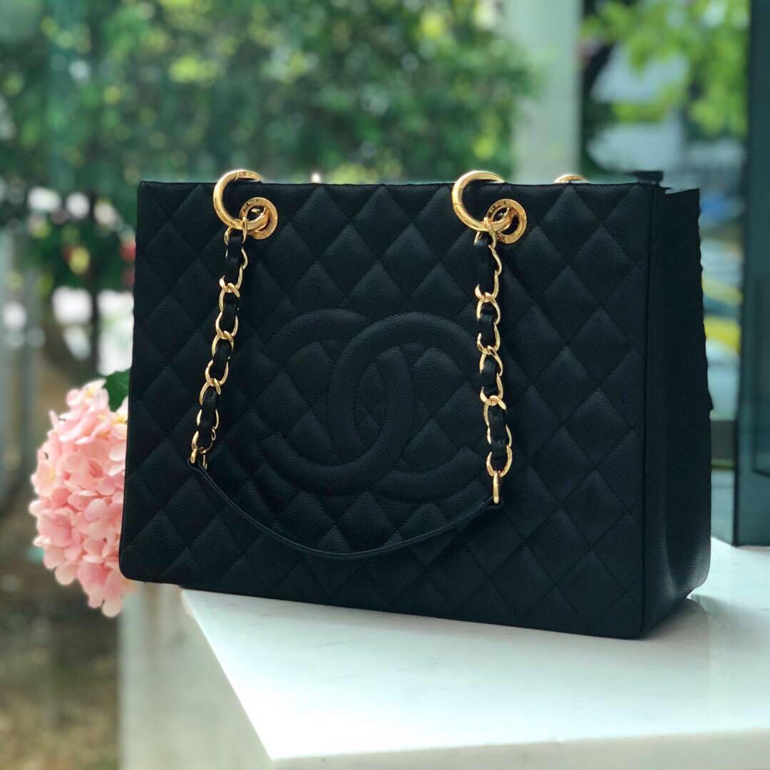 ab85e156cf4e ❌SOLD!❌ Good Deal! Chanel GST in Black Caviar GHW