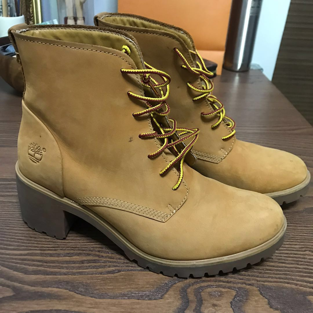 41c95432c749a TIMBERLAND High Heeled Boots, Women's Fashion, Shoes, Boots on Carousell