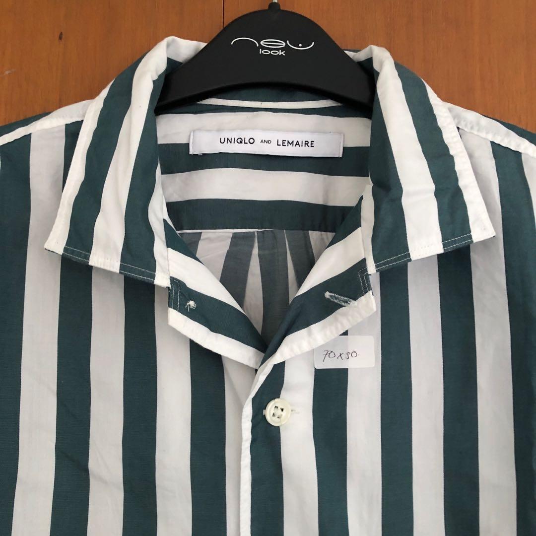 Uniqlo X Lemaire Twill Striped Short Sleeve Shirt