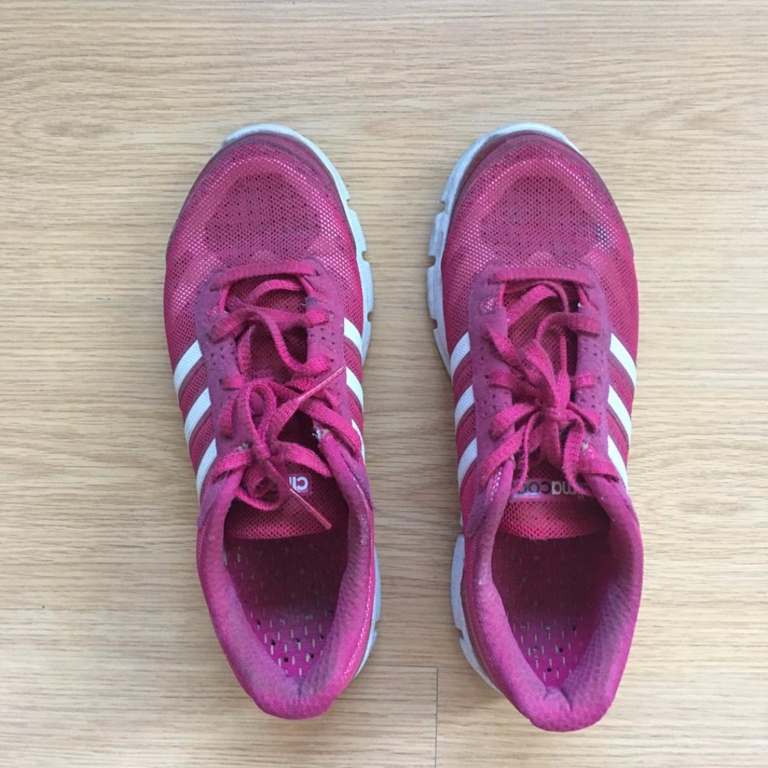 US 9.5) ADIDAS women's climacool sneakers in hot pink, Women's ...