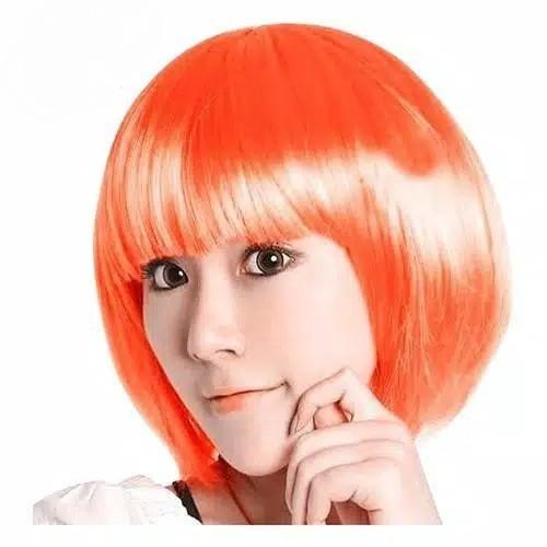Wig Cosplay Anime J-Pop Halloween Drama Actor Actress Syuting Modeling Fake Hair Many Colors Rambut Palsu Pendek Bob Wanita