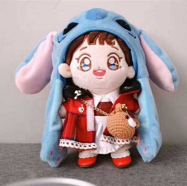 WTS 20CM DOLL MOVEABLE EAR HAT STITCH AND SEAL