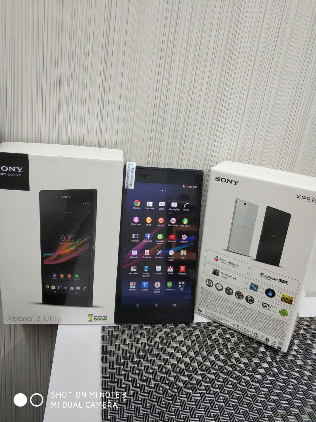 XPERIA Z ULTRA 32GB FULLY NEW CONDITION WITH BOX ANS ACCESSORIES