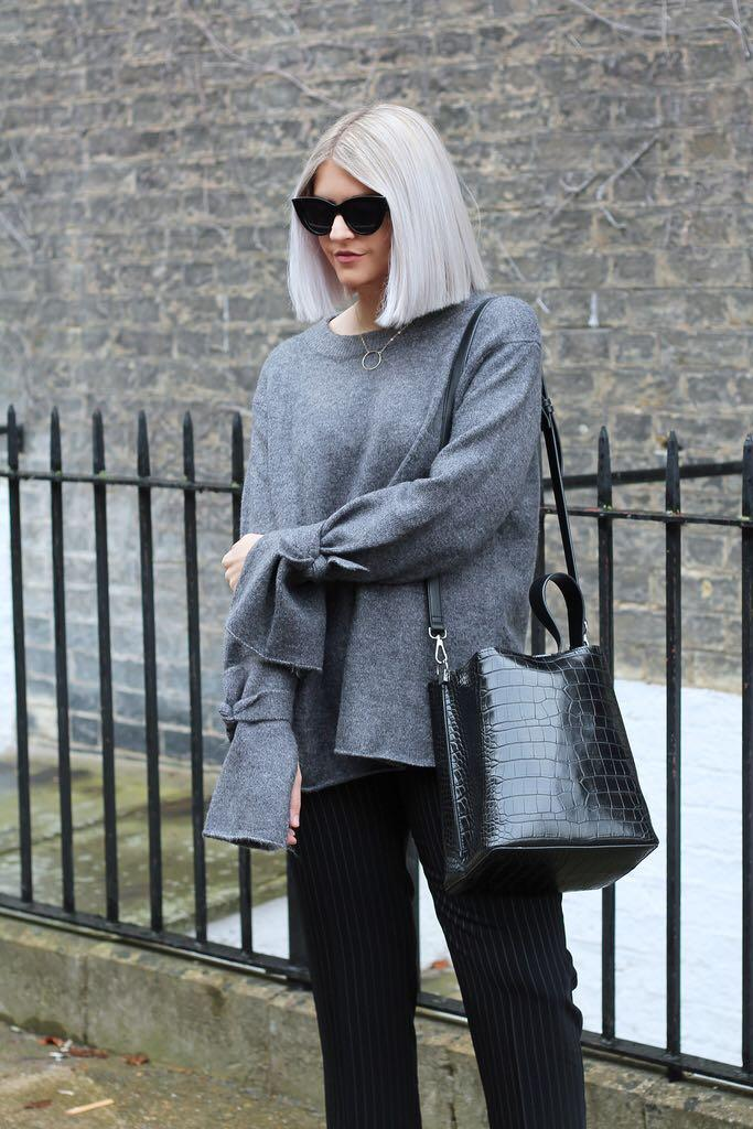 Zara luxury tie knit jumper