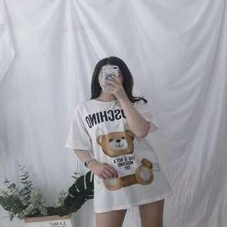 Moschino 'THIS IS NOT A MOSCHINO TOY' Tape bear loose TOP shirt