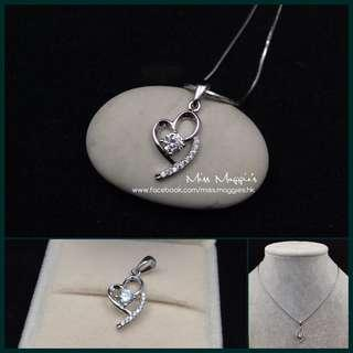 925 silver heart necklace 純銀心心頸鏈