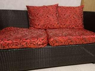 Sofa outdoor with cushion