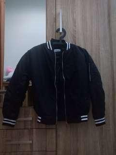 Black Bomber Jacket Zalora