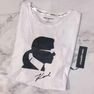 🚚 美國帶回全新Karl Lagerfeld白色女短T