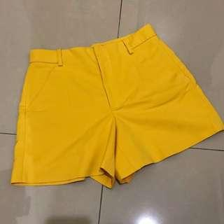 Zara Yellow Short