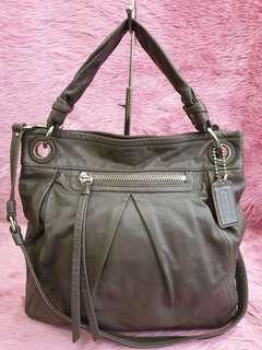 Coach Parker Hippie Gray Leather Crossbody Handbag