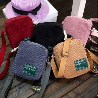Corduroy Zip Bags