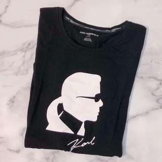 🚚 美國帶回全新Karl Lagerfeld黑色女短T