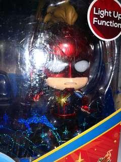 紅藍衫 LED眼 captain marvel 驚奇隊長 marvel hottoys cosbaby avengers infinity war