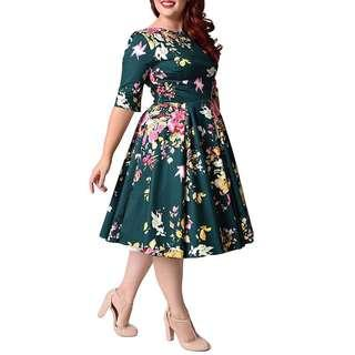 Flora plus size dress
