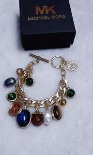 Bnew michael kors charm bracelet