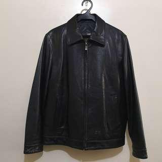 Vintage Balenciaga Leather Classic Zippered Jacket