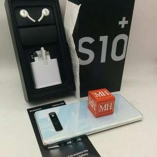 (Sold) New Condition S10+ White Singapore Set  $68 Branded Glass Pasted  Free Original Case Along MHMAR
