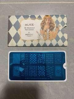Moyou Alice 03 指甲油 壓花板