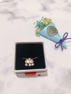 🚚 全新 雲朵精緻小珍珠項鍊 鎖骨鏈 含禮物盒 情人節 #半價良品市集