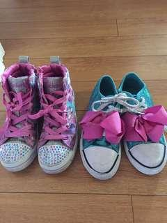 Jojo siwa and hightop sketchers