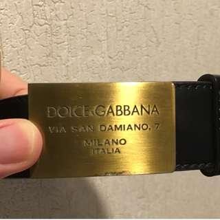 Dolce & Gabbana Classic Mens Leather Belt Size 90