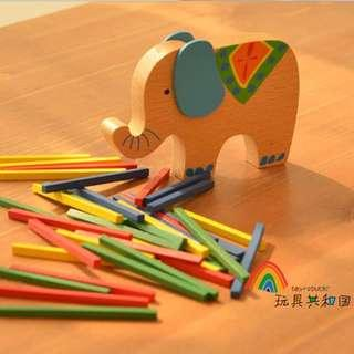 Balancing elephant toys(wooden)