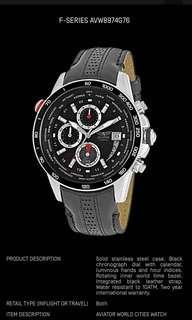 🚚 Aviator F series World Time Tachymetre Chronograph Watch