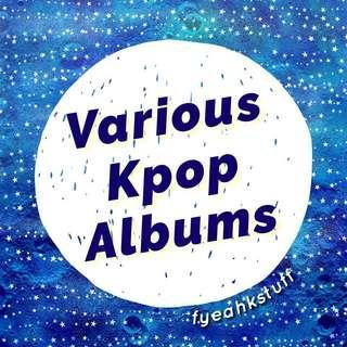 VARIOUS KPOP ALBUMS