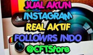 Jual akun instagram 5000 followers aktif indo+ribuan like